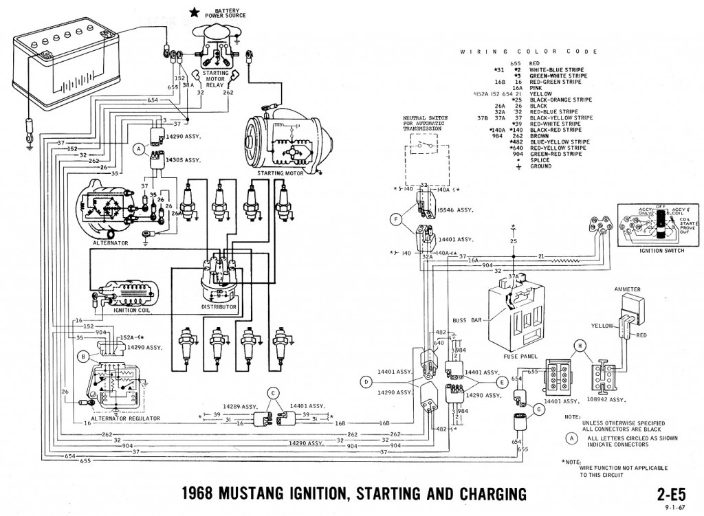 1968 Mustang Wiring Diagrams And Vacuum Schematics - Average Joe with 2002 Ford Mustang Engine Diagram