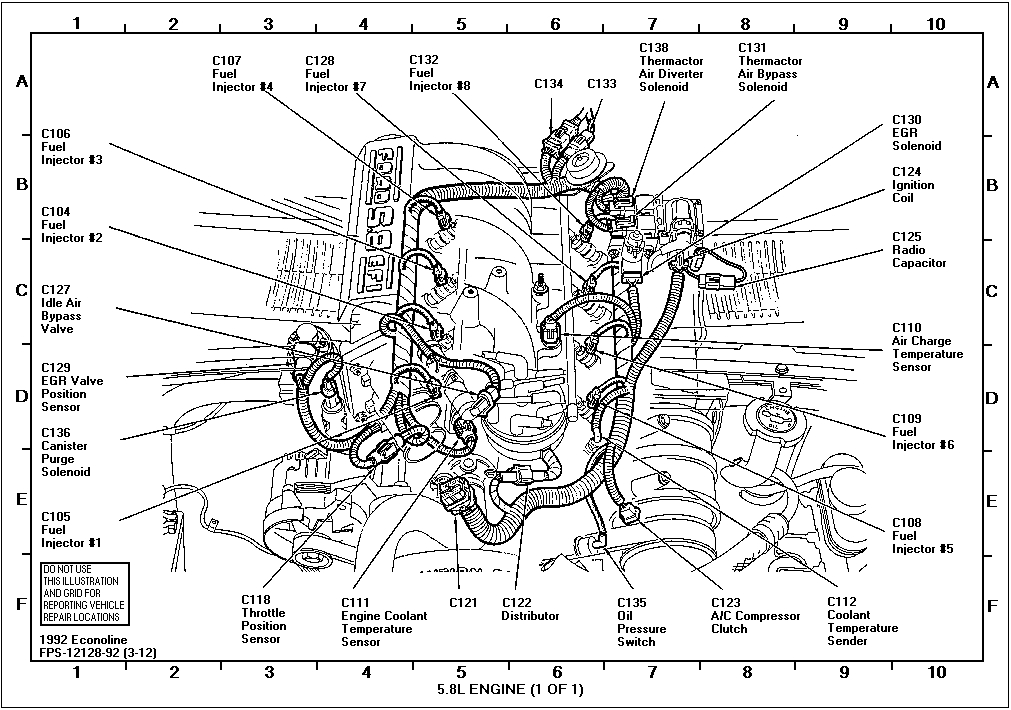 1986 ford f150 engine diagram | automotive parts diagram ... 92 ford f 150 alternator wiring diagram