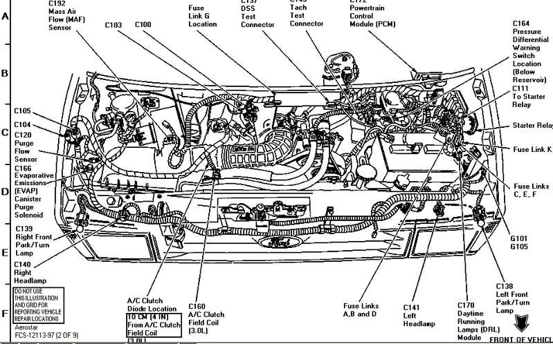 1996 ford transmission wiring diagram schematic