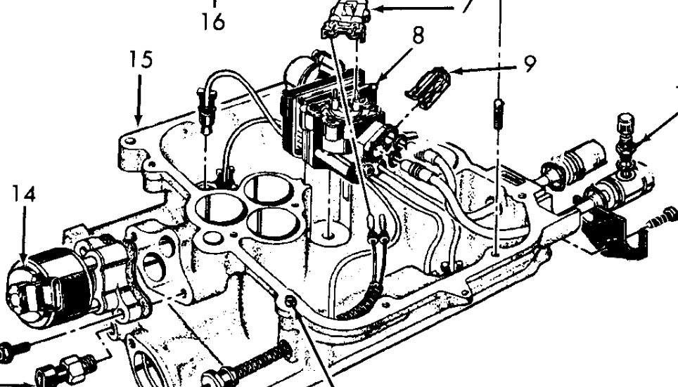 1994 Gmc Sonoma 4.3L Spider Fuel Injector Routing inside 4.3 Liter V6 Vortec Engine Diagram