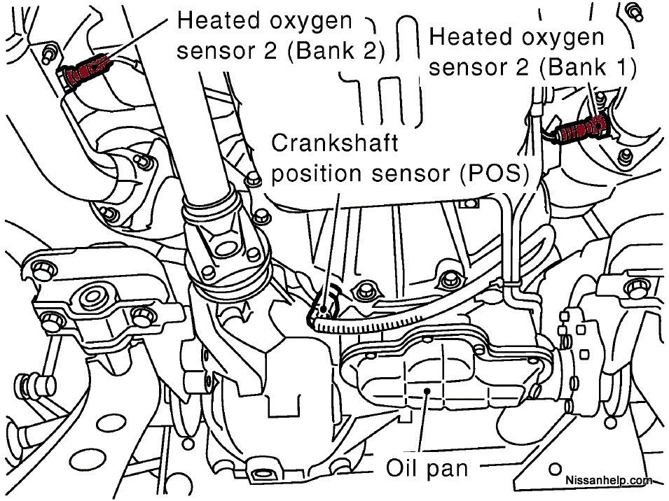 1996-2011 Nissan Pathfinder A/f Sensor - O2 Sensor Location intended for 2000 Nissan Pathfinder Engine Diagram