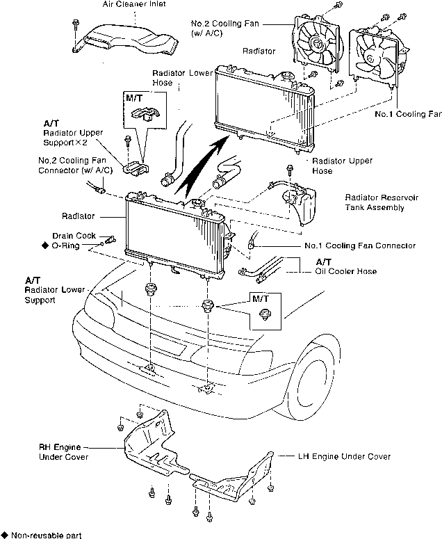 1996 Toyota Tercel Heater Core Replacement Procedure - Toyota for 1996 Toyota Tercel Engine Diagram