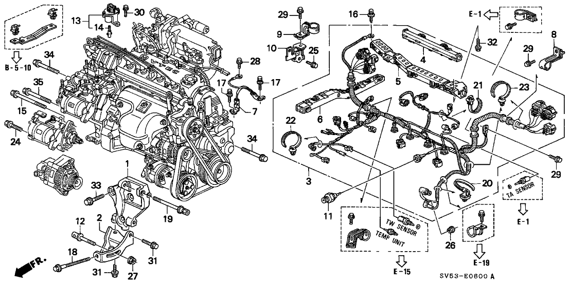 1997 honda accord engine diagram