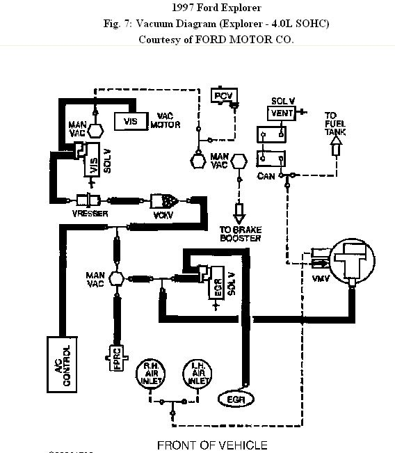 1997 Explorer: There A Diagram..vacuum Line..sohc..disassembled inside Ford 4.0 Sohc Engine Diagram