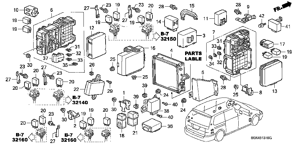 Wiring Diagram Honda Odyssey 2000 : Honda odyssey engine diagram automotive parts