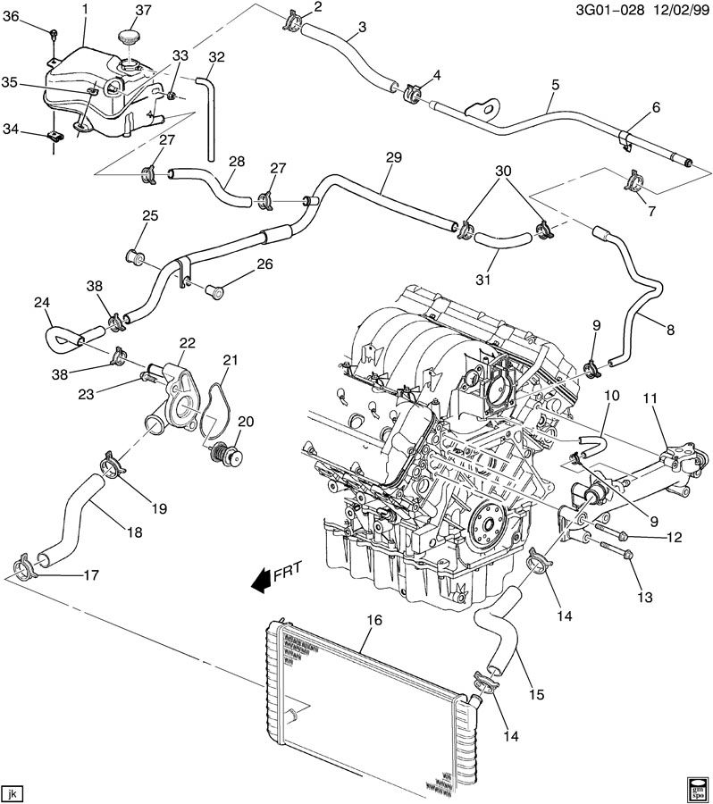 oem 1999 oldsmobile alero engine diagram  oldsmobile  auto