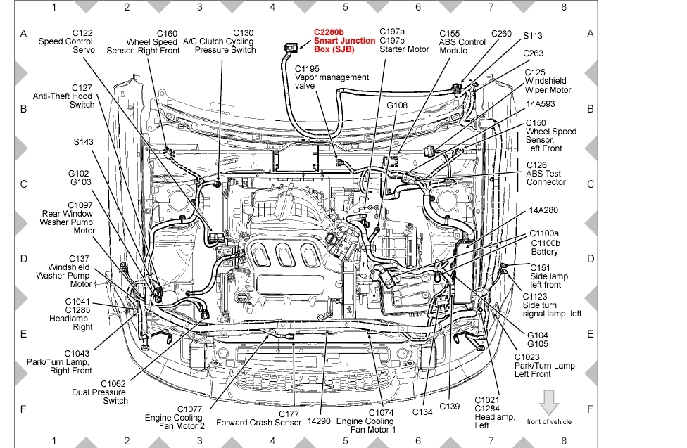 2001 ford escape engine diagram