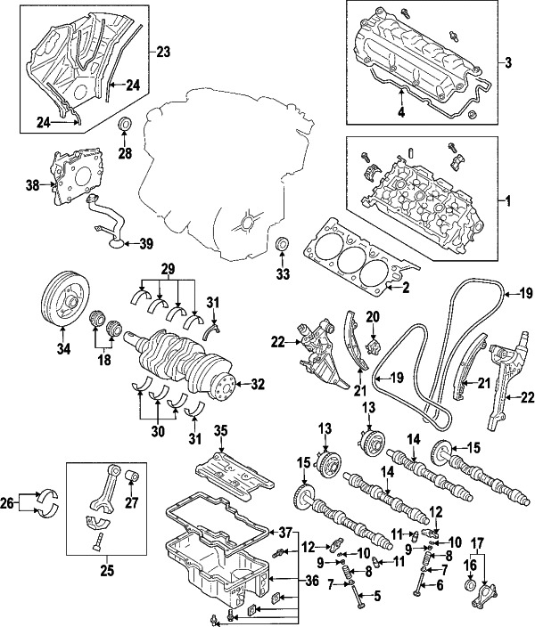 2004    Mazda 6       Engine       Diagram      Automotive Parts    Diagram    Images