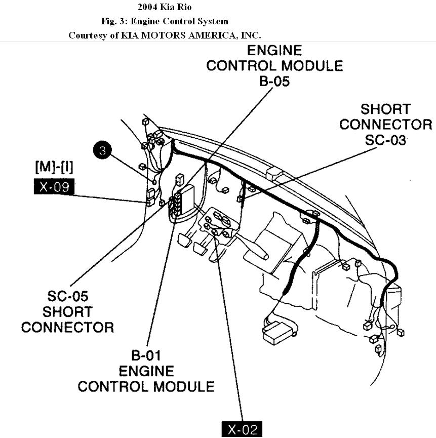 2001 Kia Rio Engine Diagram