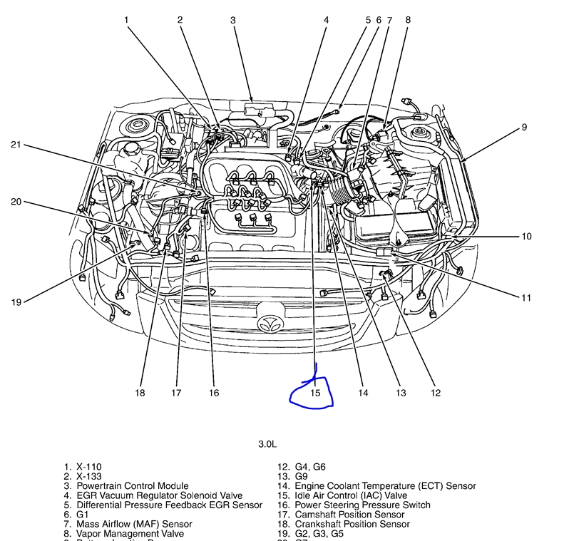 2002 Mazda    Tribute    Engine    Diagram      Automotive Parts
