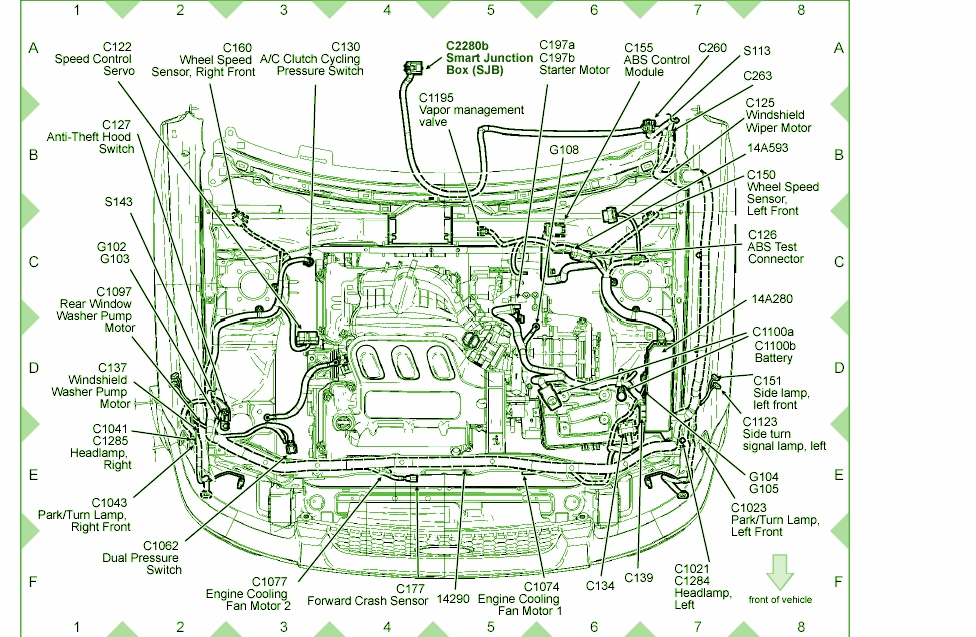 2006 Ford Taurus Engine Diagram Automotive Parts Diagram