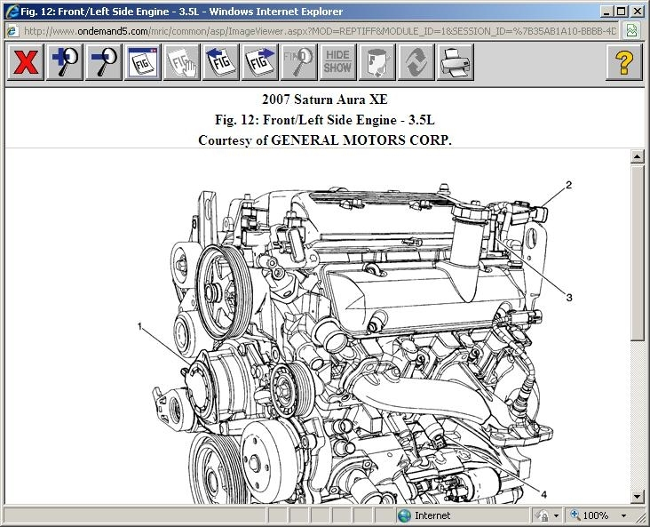 2007 Saturn Aura Engine Diagram