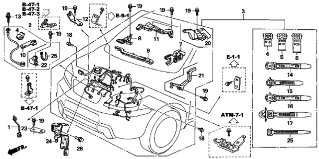 Honda S2000 Fuse Location likewise Ud 2002 F250 Wiring Harness likewise 1985 Honda Accord Fuse Box Location as well 2005 Yamaha Dt125x Wiring Diagram together with Canister Vent Solenoid Location 2003 Cr V. on honda pilot 2011 wiring diagram