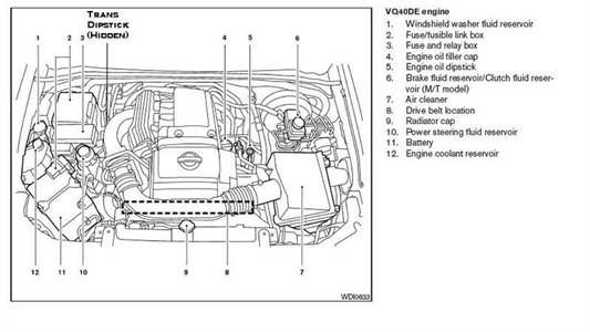 2001 nissan pathfinder engine diagram automotive parts