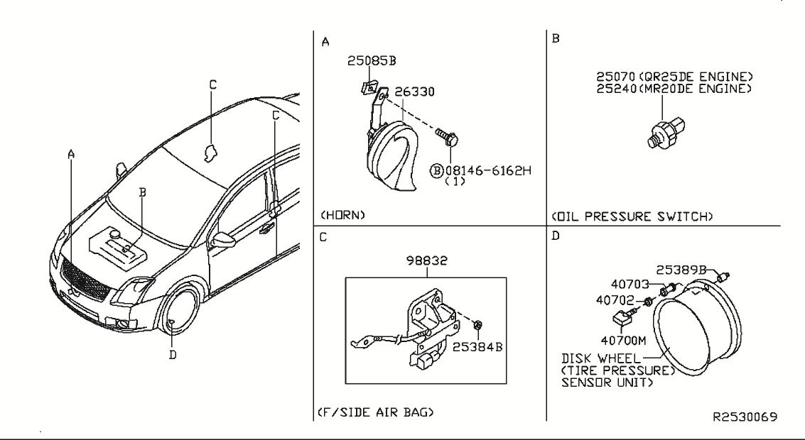 2008 Nissan Sentra Oem Parts - Nissan Usa Estore in 2008 Nissan Sentra Engine Diagram