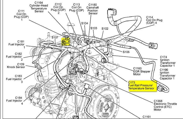 2003 Ford Explorer Engine Diagram