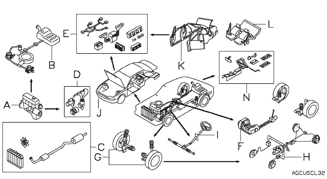 2001 Nissan Altima Under Parts Diagram Nissan Auto Parts