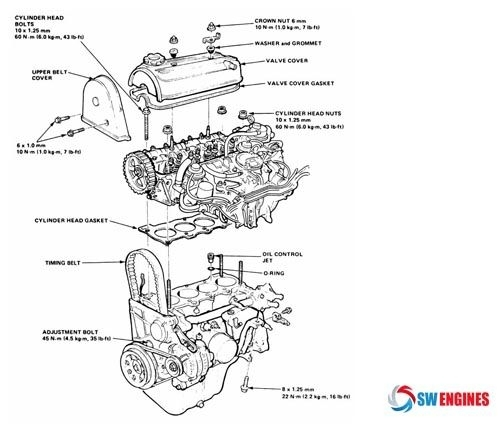 1992 Toyota Camry Engine Diagram | Automotive Parts ...