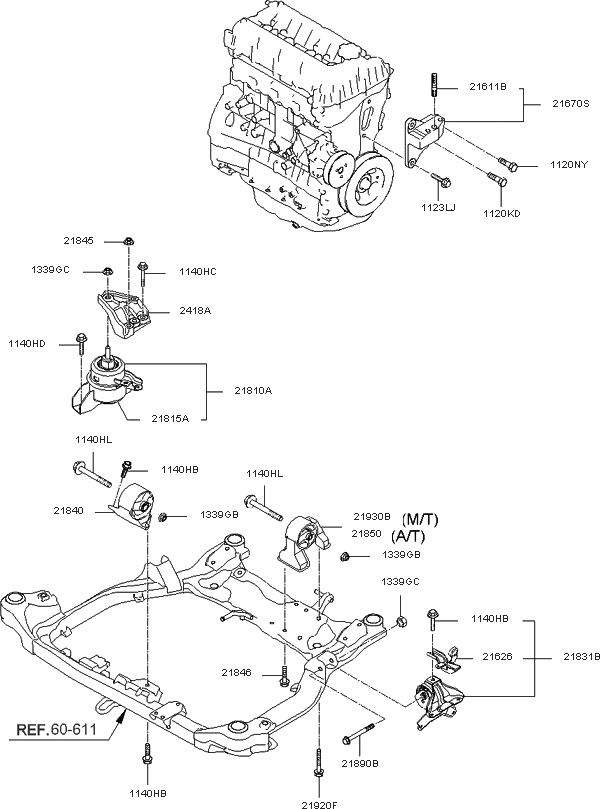 218152G000 - Genuine Kia Bracket-Engine intended for 2006 Kia Optima Engine Diagram
