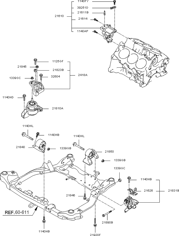 219102G400 - Genuine Kia Bracket Assy-Ro pertaining to 2006 Kia Optima Engine Diagram
