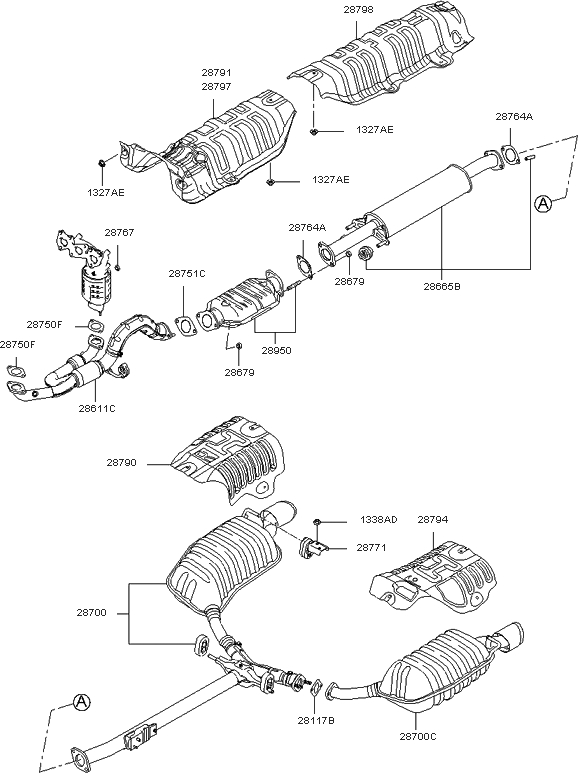 289503E140 - Genuine Kia Converter Assy within 2006 Kia Optima Engine Diagram