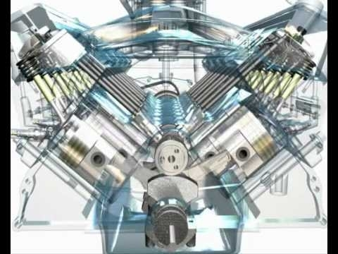 3D Animation Of A V8 Engine - Youtube with Diagram Of A V8 Engine