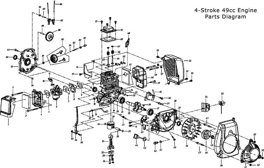 2 cycle engine carburetor diagram