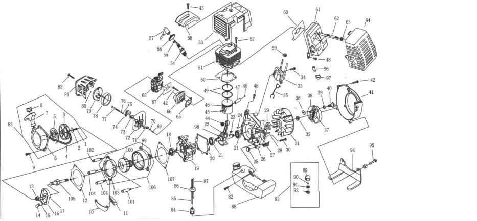 49Cc Pocket Bike Engine Diagram | Linkinx intended for 49Cc Pocket Bike Engine Diagram