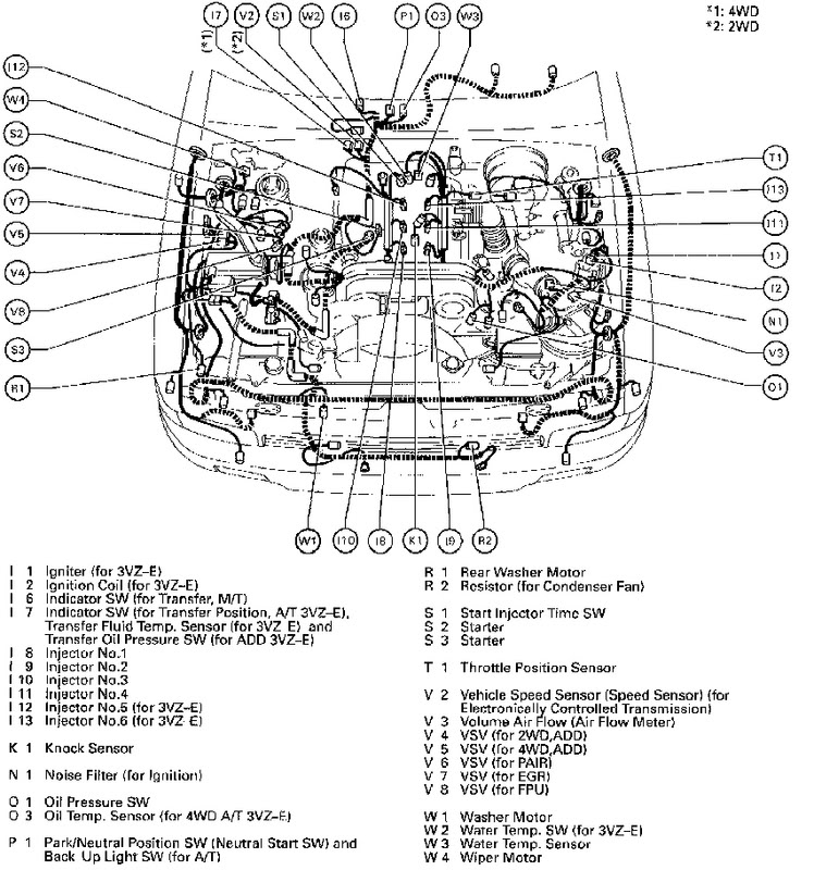 4Wd Vacuum Hose Location Question - Yotatech Forums with regard to 2000 Toyota 4Runner Engine Diagram