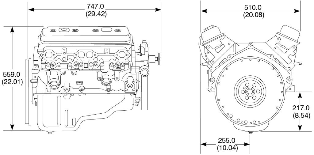 5.7L L31 Industrial Engine in 5.7 Liter Chevy Engine Diagram