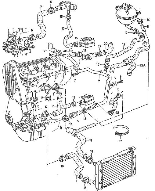 Vw 1.8 T Engine Diagram | Automotive Parts Diagram Images
