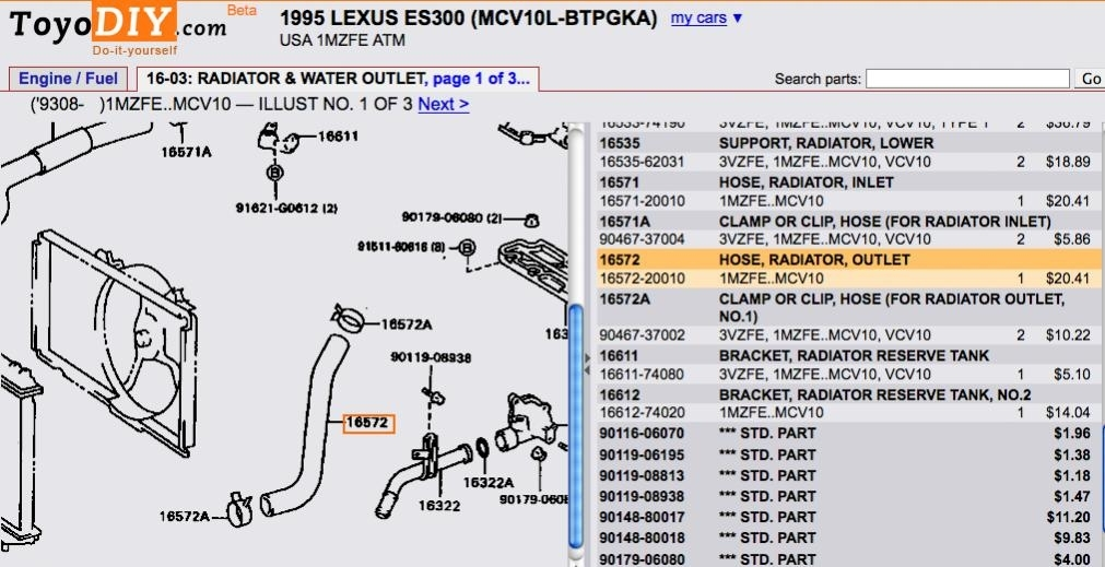 1997 Lexus Es300 Engine Diagram