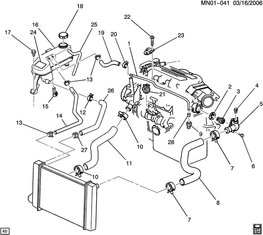 2005 Chevrolet Malibu Engine Diagram