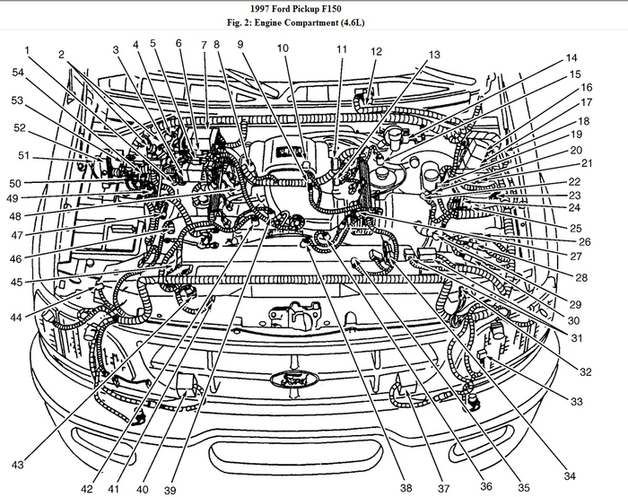 1997 ford f150 4.6 engine diagram | automotive parts ... 1997 f150 radio wiring diagram 1997 f150 parts diagrams