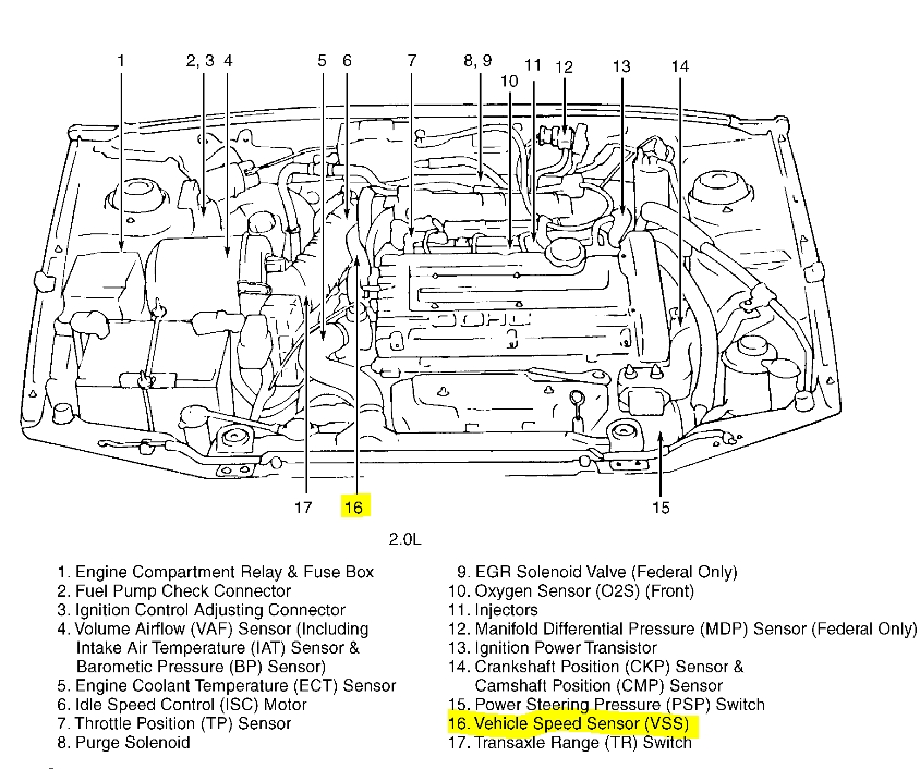 2004 Hyundai Accent Engine Diagram