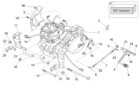 Af1 Racing : Aprilia Parts And Accessories: 2006-2009 Rs125 Engine I intended for Aprilia Rs 125 Engine Diagram