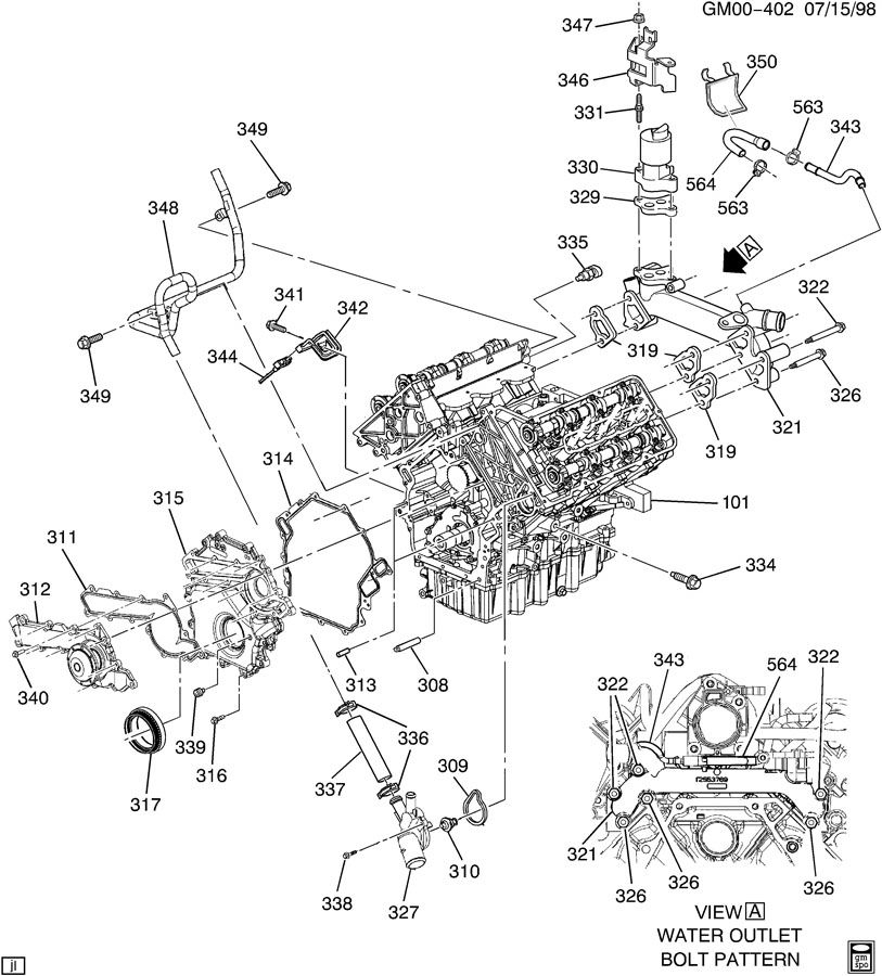 2001 Oldsmobile Aurora Engine Diagram Automotive Parts