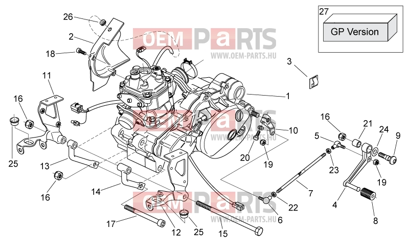 Aprilia Rs 125 2006-2010(Aa, Ap, Eu, Gr, Usa) Engine » Engine regarding Aprilia Rs 125 Engine Diagram