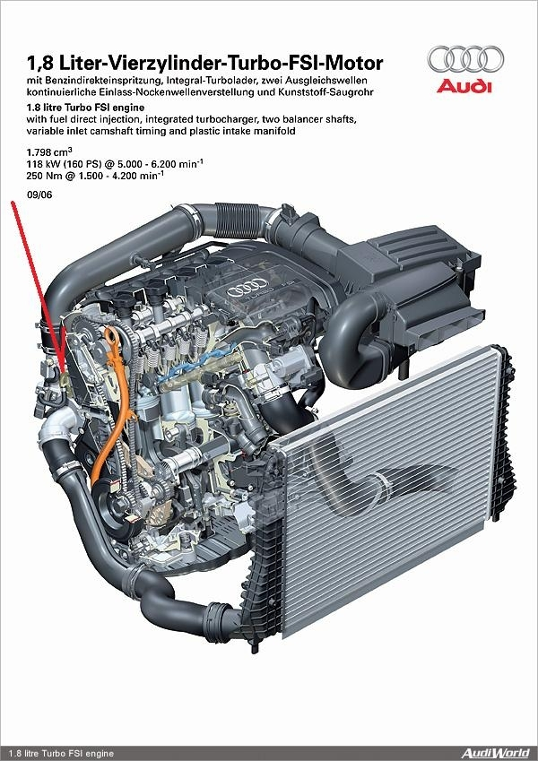 Audi A4: Engine Diagram Showing Location Of Divertor Valve for 2003 Audi A4 Engine Diagram