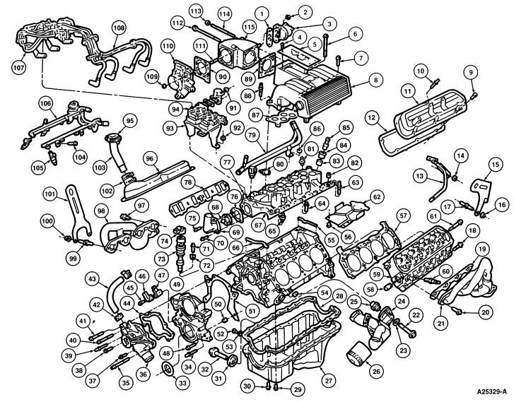 2005 Ford Explorer Engine Diagram