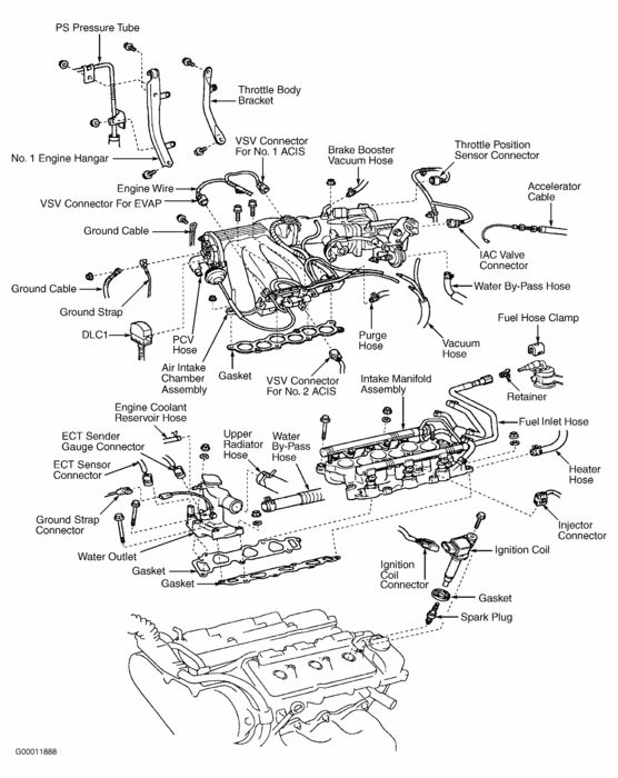 Lexus es engine diagram automotive parts