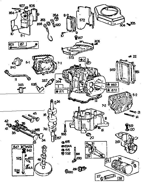 Briggs & Stratton Briggs & Stratton 18 Hp Engine Parts | Model with Briggs And Stratton Engine Diagram