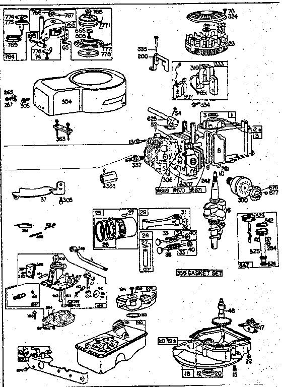 Briggs & Stratton Briggs & Stratton Gas Engine Parts | Model for Briggs And Stratton Engine Diagram