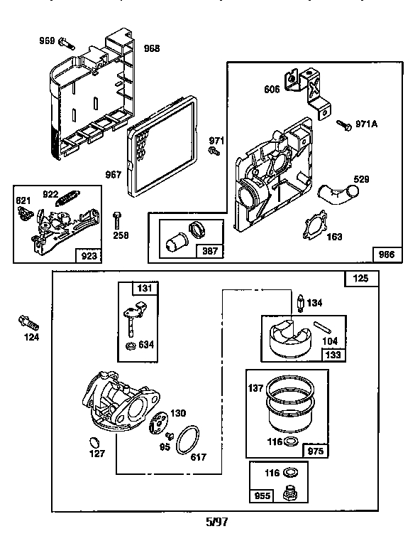 Briggs & Stratton Engine-Briggs And Stratton Parts | Model for Briggs And Stratton Engine Diagrams