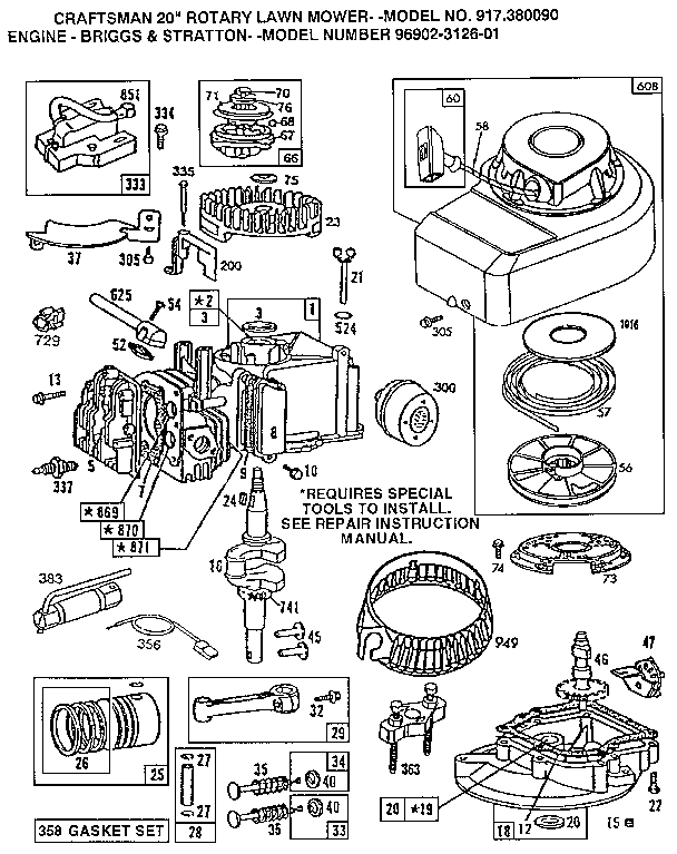 Briggs & Stratton Engine Parts | Model 96902312601 | Sears Partsdirect intended for Briggs & Stratton Engine Diagram