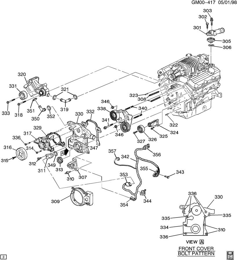 2002 buick century engine wiring diagram 2002 buick century engine diagram | automotive parts ...