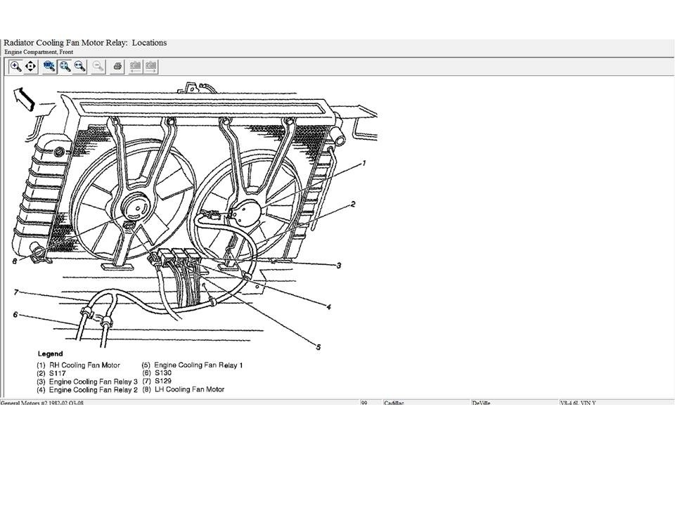 Cadillac Deville Questions - My Cooling Fans Arent Coming On Like throughout 2002 Cadillac Deville Engine Diagram