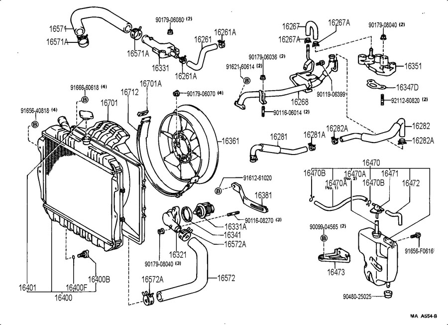 Coolant Leak Behind Engine - Toyota 4Runner Forum - Largest intended for 2000 Toyota 4Runner Engine Diagram