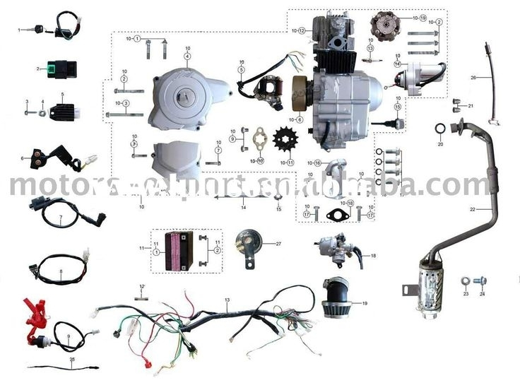 Coolster 110Cc Atv Parts Furthermore 110Cc Pit Bike Engine Diagram for 4 Stroke Dirt Bike Engine Diagram