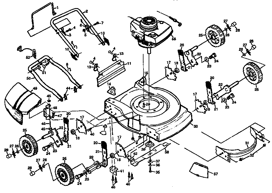 Craftsman Lawn Mower Parts | Model 917380542 | Sears Partsdirect for Diagram Of A Lawn Mower Engine